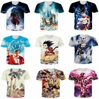 Dragon Ball Z Super Saiyan DBZ Goku 3D Print T-Shirt Mens/Womens Casual Tee Tops