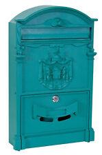 Mailbox Model Regia Mail Aluminum Green Postman Letterbox