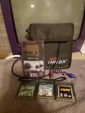 Nintendo Game Boy Color Bundle Atomic Clear Purple Handheld 3 Games Mario