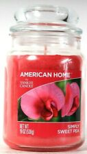 1 Count American Home By Yankee Candle 19 Oz Simply Sweet Pea Glass Candle