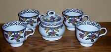 """SADLER COVERED SUGAR BOWL 4.25"""" X 4.25""""  AND 4 CUPS 3.5"""" X 3"""""""