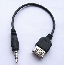 DZ572 3.5mm Male Audio Headphone Plug to USB 2.0 Female Jack Cable Adapter