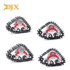 4PCS Complete Snow Rubber Track with wheel hub for Axial SCX10 D90 Traxxas TRX-4