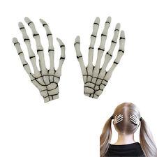 1 Pair Skeleton Hand Bone Hairslides Hair Clip Punk Hairpin Hair Pin White T1