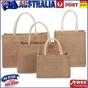Burlap Tote Bags Blank Jute Beach Shopping Handbag Gift Bags with Handle