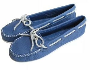 New Spring Limited Edition Minnetonka 512S Boat Shoes Ocean Blue 7.5M