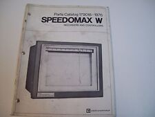 Leeds & Northrup 179018 Parts Catalog Speedomax ''W'' Recorders & Controllers