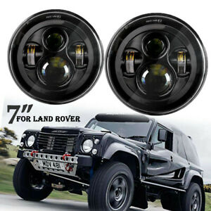Pair 12/24V 7 Inch Round LED Headlight Hi-Lo Beam For Hummer AM General H1 H2