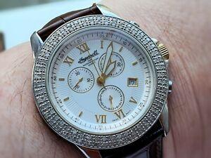 Ingersoll diamond watch chrono looks amazing fab condition
