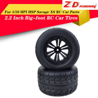 4PCS ZD Racing RC Tires & Wheels for HPI HSP Savage XS Flux 1/10 Off Road Truck