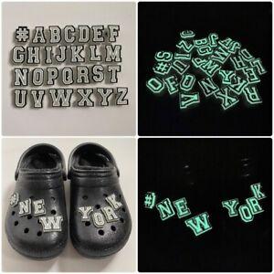 GLOW IN THE DARK jibbitz letters Shoe Charm