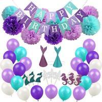 76 Pcs Mermaid Theme Balloons Birthday Baby Party Wedding Kit Decor Set