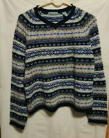 Marsh Landing Blue Nordic Style Sweater Woman's Size M