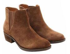 New Kensie Women's Garry Bootie Short Ankle Boots Suede Brown US 9