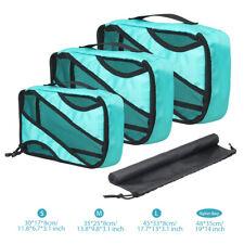 4Pcs Packing Cubes Set Travel Luggage Organizer Zip Clothes Storage Bag Pouch