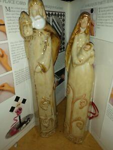 """Large Nativity Figures Mary Joseph  Christmas 11"""""""