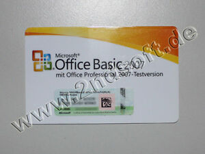 Office 2007 Basic Edition MLK (Lizenz), SKU: S55-01363