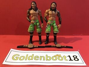 THE USO BROTHERS JEY AND JIMMY WWE ELITE MATTEL WRESTLING FIGURE BUNDLE TAG TEAM