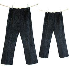 Men's Black Persian lamb fur Pant gray brown all colors/sizes/style Leather trim