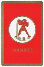 Vintage Aquarius Astrology Sign U.S. Playing Cards Deck Bridge Size