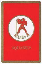 Vintage Aquarius Astrology Sign U.S. Playing Cards Deck Bridge Size