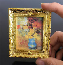1:12 Dollhouse Doll House Miniature Oil Painting Flower Room Furniture Decor
