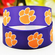 50yards 22mm Clemson tigers Sport team ball printed Grosgrain Ribbon party decor