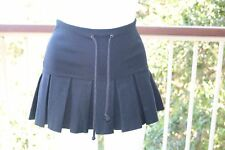 Small S Guess Jeans Black Mini Pleated Tennis Skirt Timeless