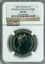 1984 CANADA CLAD DOLLAR NGC MAC MS68 PQ FINEST GRADED  SPOTLESS *