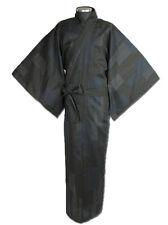 Japanese MEN'S KIMONO YUKATA OBI SET KOMON  NAVY  LL SIZE  NEW (A)