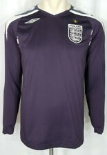 Umbro purple white England embroidered long sleeve soccer jersey mens Small