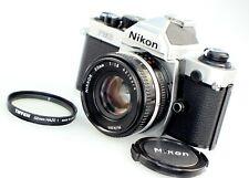 **Almost Mint**Nikon FM2N 35mm SLR Film Camera with Nikkor 50mm F1.8 Prime Lens