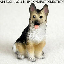 German Shepherd Mini Resin Dog Figurine Statue Hand Painted