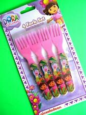 DORA The Explorer Pink 4 Fork Set Reusable Partyware New Party Supplies Cutlery