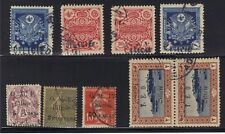 TURKEY CILICIA SYRIA 1919 GROUP OF 9 USED INC SCARCE POSTAGE DUES & 1st OMF OVPT