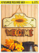 Sunflower Welcome Sign  ~   Plastic Canvas Pattern