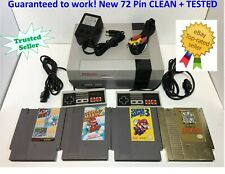 Nintendo NES Console Bundle REFURBISHED Games Super Mario Bros 1 2 3 GOLD ZELDA!