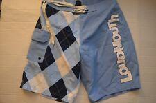 Loudmouth Swim Boardshorts W/Elastic on Back & Lining Size 34