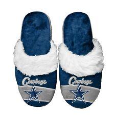 Dallas Cowboys Women's Stripe Logo SLIDE SLIPPERS New FREE U.S.A. SHIPPING