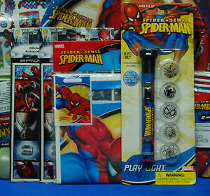 Spiderman Sense Party Set # 29 Plates Cups Napkins Tablecover Centerpiece Rings