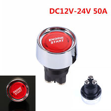 Universal 50A Red DC12V-24V Car Engine Ignition Start Push Button Switch