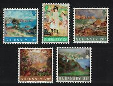 Guernsey Renoir Paintings 5v MNH SG#277-281 SC#264-268