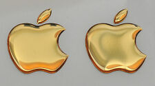 2 x 3D Domed  Apple logo stickers for iPhone, iPad cover. Size 35x30mm