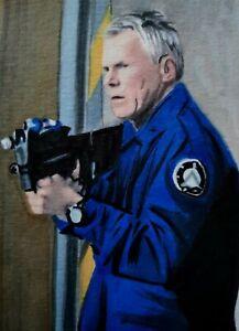 Original Jack O'Neill Stargate Aceo sketch card drawing
