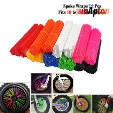 Motorcycle Spoke Wrap Kit Wraps Skin Covers Custom Rim Wheel Protector Universal