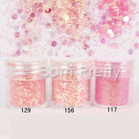 1Box/10ml Nail Art Glitter Powder Pink Super Matte Mix Sequins Decoration