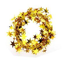 5m Navidad fiesta azul rojo estrella hoja festivo alambre guirnalda decor prop