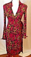 RARE Diane Von Furstenberg CLASSIC Jeanne Wrap Dress 100% Silk Multi Color SZ 4