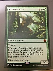 Magic the gathering - primeval titan - mythic - iconic masters - MTG