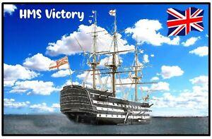 HMS VICTORY - NOVELTY SOUVENIR FRIDGE MAGNET - BRAND NEW / SHIPS / FLAG / GIFTS